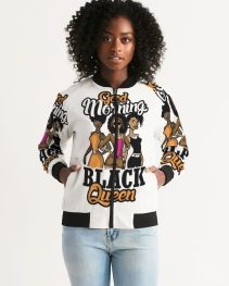 Good Morning Black Queen Women's Bomber Jacket