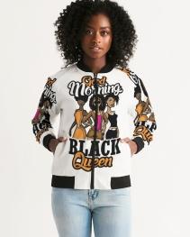 Good Morning Black Queen Women's Bomber Jacket
